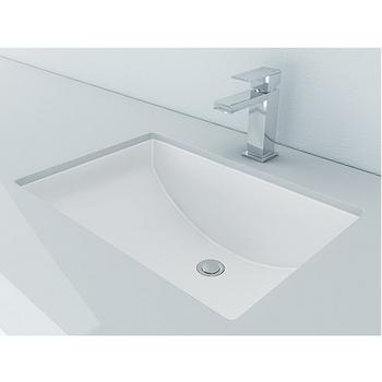 Bathroom Sinks Vitreous China Rectangular Bathroom Sink Undermount Design By Cantrio Koncepts Kitchensource Com