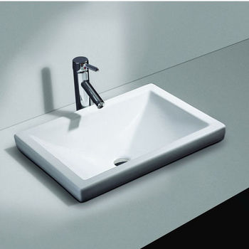 Cantrio Koncepts Vitreous China Semi Recessed Bathroom Sink with Overflow   21 W X 14 3 4 D x 6 HBathroom Sinks By Cantrio Koncepts   Kitchensource com. Recessed Bathroom Sinks. Home Design Ideas
