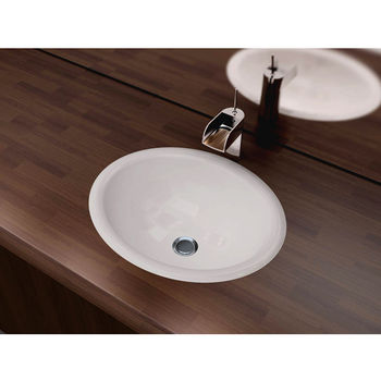"""Cantrio Koncepts Vitreous China Drop-In Sink with Overflow, 17-1/2""""W x 15""""D x 7-1/2""""H"""