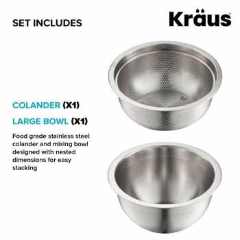 Bowl and Coolander Set Includes