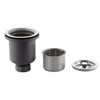 Kraus Stainless Steel Basket Strainer and Strainer Combo, Stainless Steel