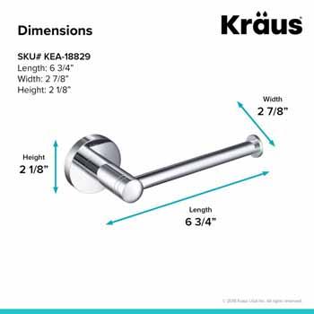 Toilet Paper Holder Dimensions