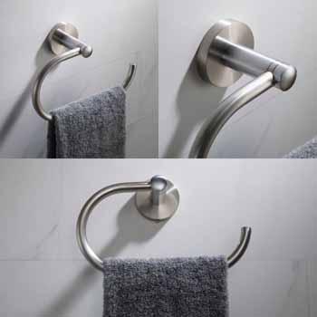 Brushed Nickel - Towel Ring