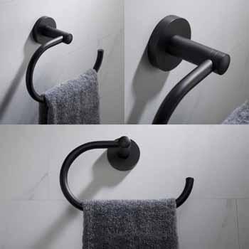 Matte Black - Towel Ring