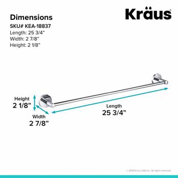 Towel Bar Dimensions