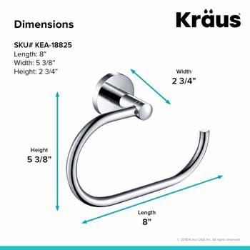 Towel Ring Dimensions