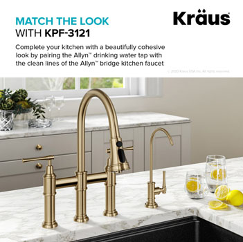 Brushed Gold Matching Faucet