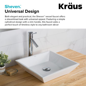 Kraus Sheven Single Lever Vessel Mixer, Chrome