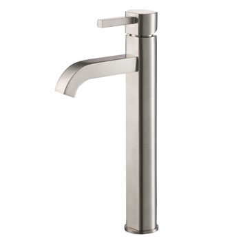 Kraus Ramus Single Lever Vessel Mixer, Satin Nickel