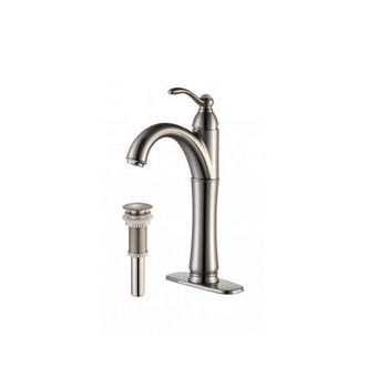 Kraus Rivera Single Lever Vessel Mixer with Matching Pop Up Drain, Oil Rubbed Bronze