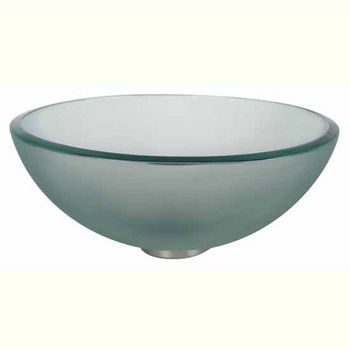 """Kraus Clear Frosted 14'' or 16-1/2"""" D Glass Vessel Sink"""