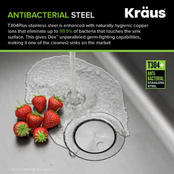 Kraus Dex Series Antibacterial Steel