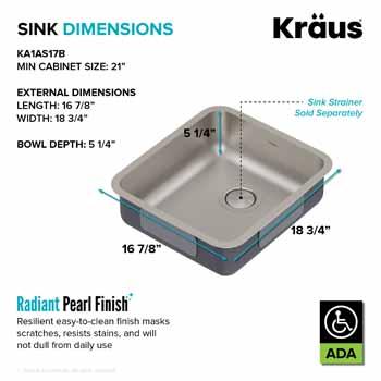 Kraus 17'' Sink Dimensions