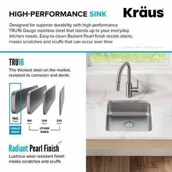 Kraus Dex Series High-Performance Sink