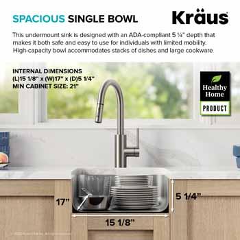 Kraus Dex Series Spacious Series Bowl