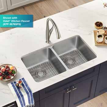 Kraus 33'' Double Bowl Sink Lifestyle View 2