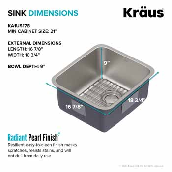 Kraus 17'' Sink Dimensions