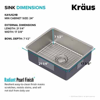 Kraus 21'' Sink Dimensions