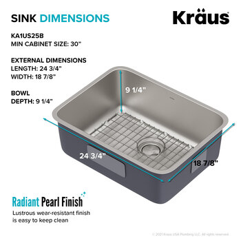 Kraus 25'' Sink Dimensions