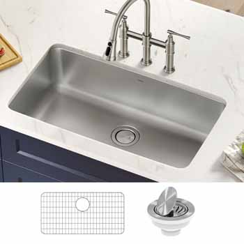 Kraus 33'' Single Bowl Sink Lifestyle View 1