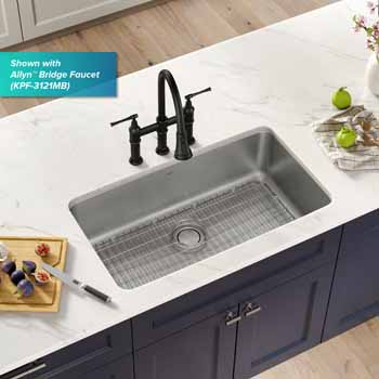 Kraus 33'' Single Bowl Sink Lifestyle View 2