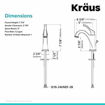 Faucet Dimensions