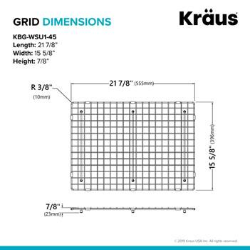 KBG-WSU1-45 Grid Dimensions