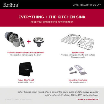 Included Items w/ Sink
