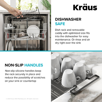 Stainless Steel Expandable Kitchen Sink Drying Rack-Dishwasher Safe/Non-slip