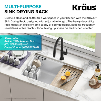 Stainless Steel Expandable Kitchen Sink Drying Rack-Mulit-Purpose Drying Rack