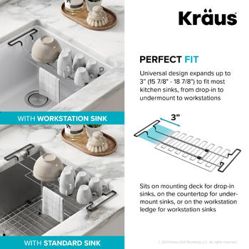 Stainless Steel Expandable Kitchen Sink Drying Rack-Perfect Fit