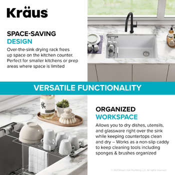 Stainless Steel Expandable Kitchen Sink Drying Rack-Space Saving