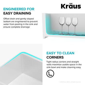 KRAUS Easy Draining Info