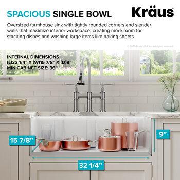 KRAUS Spacious Bowl Info