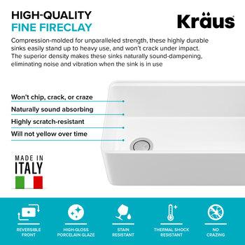 KRAUS Fireclay Info