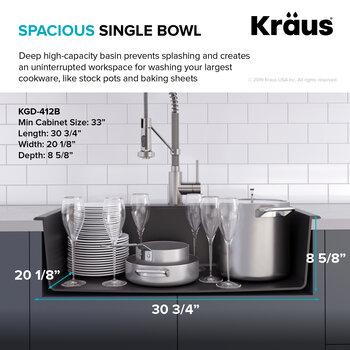 Spacious Sink Bowl Info