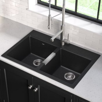 Black Kitchen Sink Set