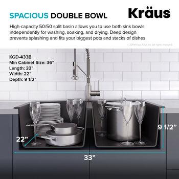 Spacious Double Bowl Info