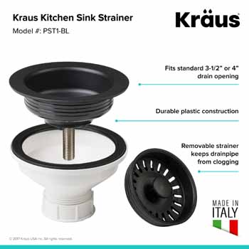Kraus Black Sink Strainer Information