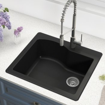 Kraus Black Sink Lifestyle View 1