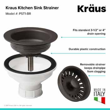 Kraus Brown Sink Strainer Information