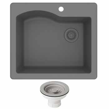 Kraus Grey Sink Display View