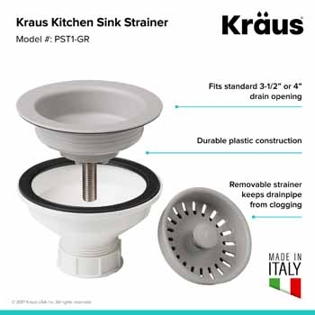 Kraus Grey Sink Strainer Information