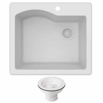 Kraus White Sink Display View