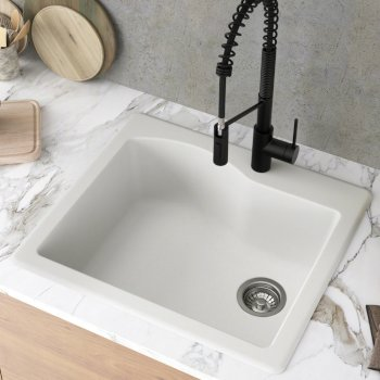 Kraus White Sink Lifestyle View 1