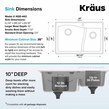 Kraus Brown Sink Dimensions