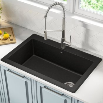 Black Kitchen Sink Set