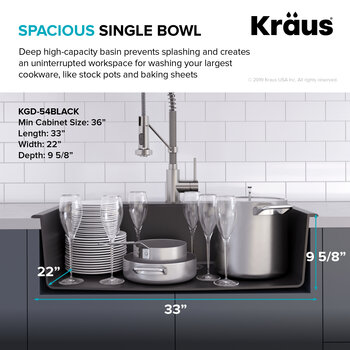 Spacious Sink Bowl Info