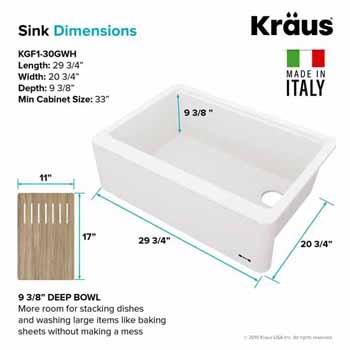 "30"" Sink Dimensions"