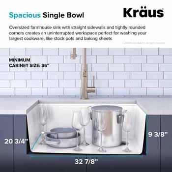 """33"""" Spacious Sink"""